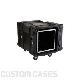 "SKB 10U Roto Shockmount Rack Case, 4 Wheel - 30""/760 mm Depth"