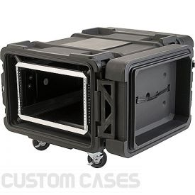 "SKB 6U Roto Shockmount Rack Case, 4 Wheel - 30""/760 mm Depth"